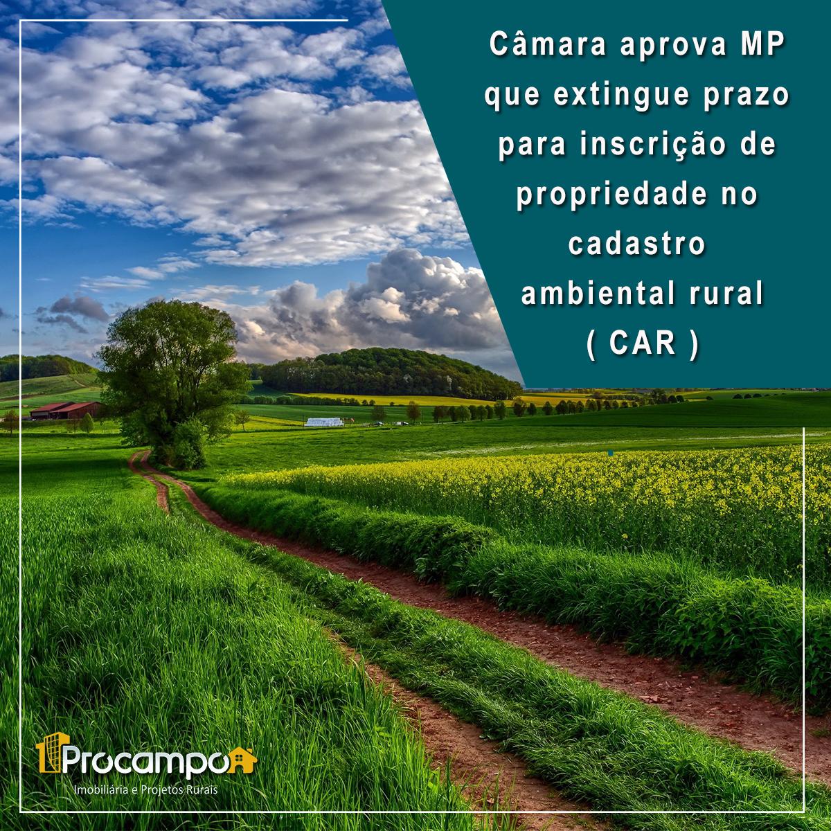 Câmara aprova MP que extingue prazo para inscrição de propriedade no cadastro ambiental rural (CAR)
